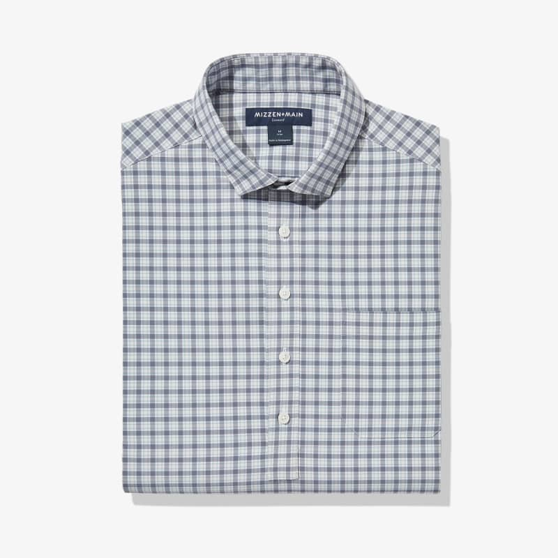 Leeward Popover - Pink Grey Multicheck, featured product shot