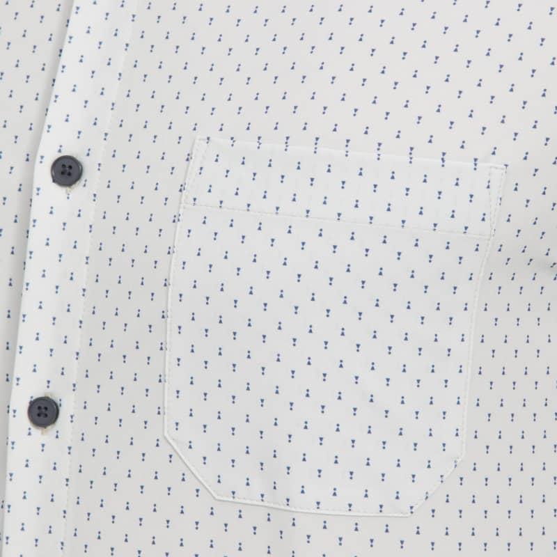 Leeward No Tuck Dress Shirt - Gray Geo Print, lifestyle/model
