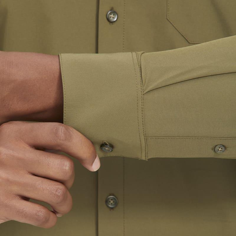 Leeward No Tuck Dress Shirt - Solid Olive, lifestyle/model