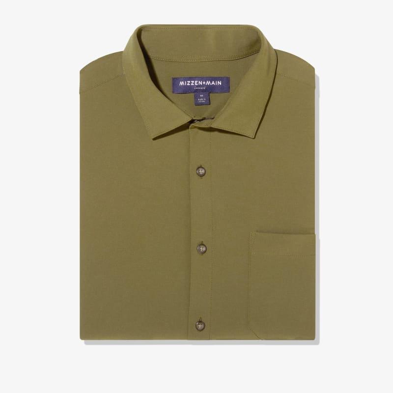 Leeward No Tuck Dress Shirt - Solid Olive, featured product shot