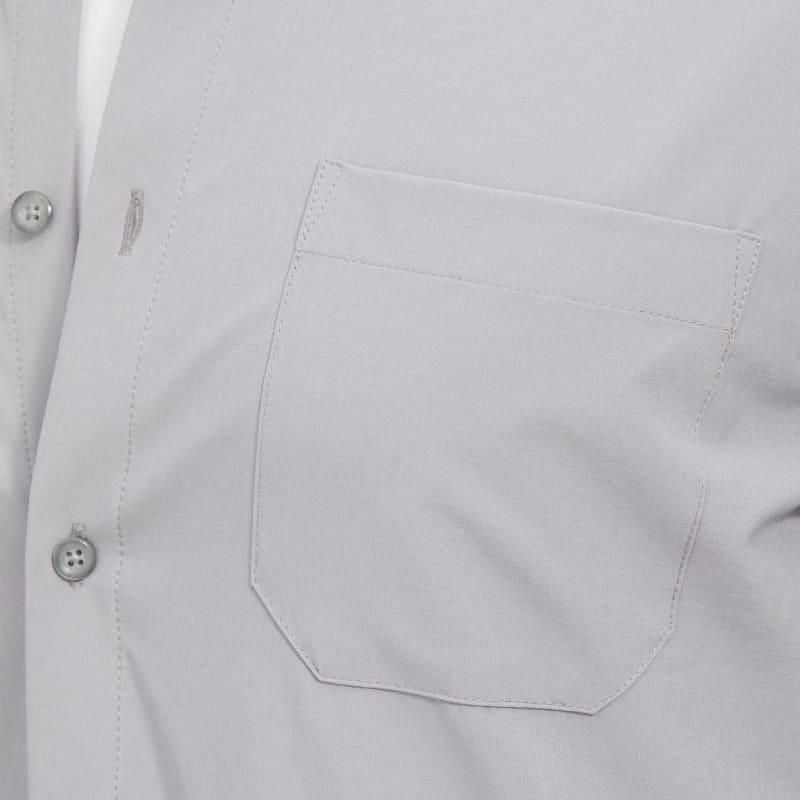 Leeward No Tuck Dress Shirt - Solid Gray, fabric swatch closeup