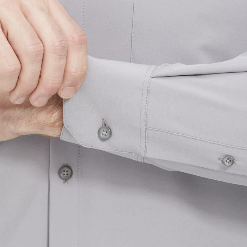 Leeward No Tuck Dress Shirt - Solid Gray, lifestyle/model