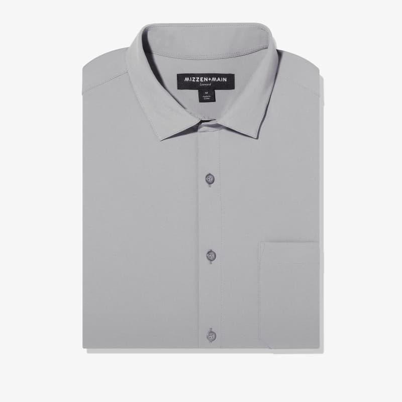 Leeward No Tuck Dress Shirt - Solid Gray, featured product shot