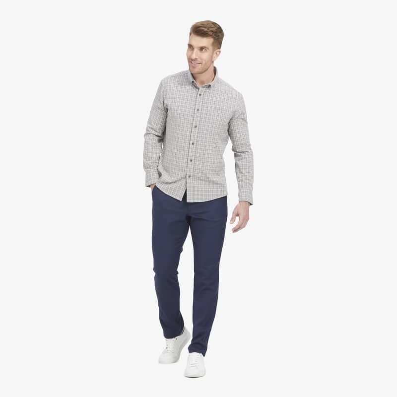 City Flannel - Gray Multi Plaid, lifestyle/model