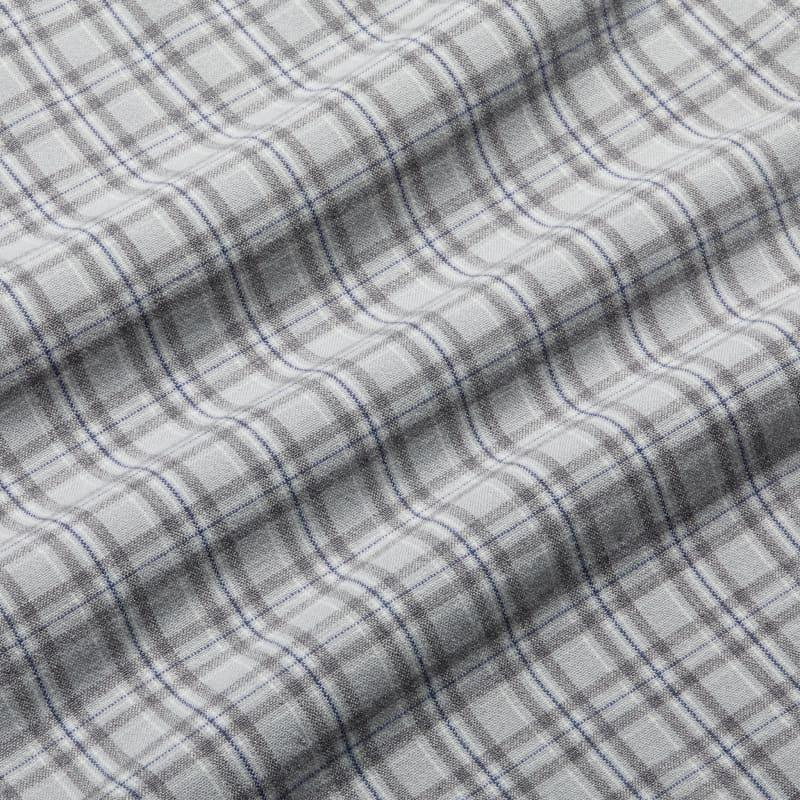 City Flannel - Gray Multi Plaid, fabric swatch closeup