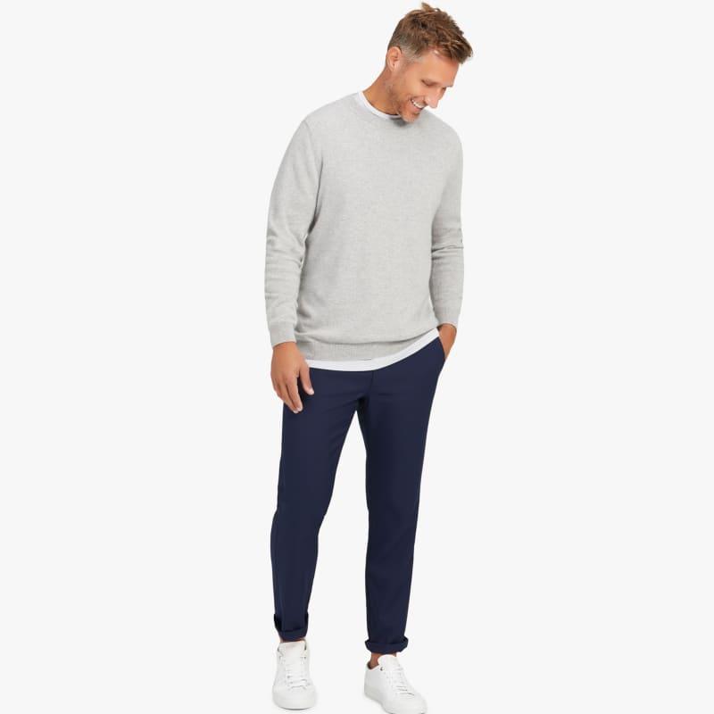 Arden Sweater - Light Gray Heather, lifestyle/model