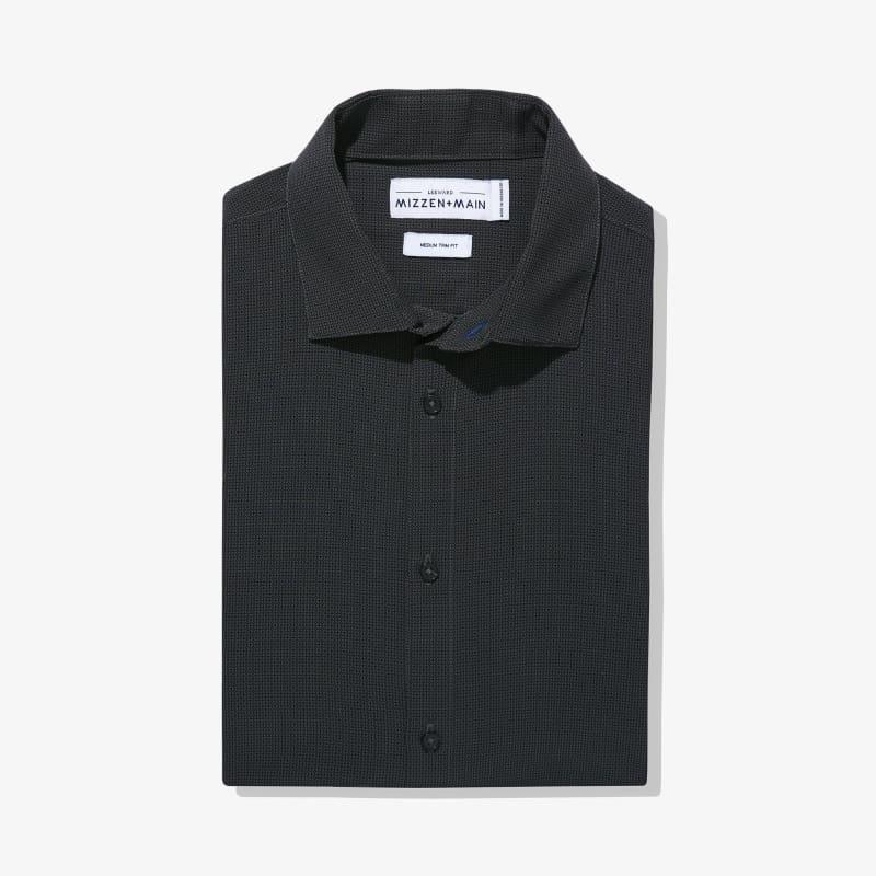 Leeward Dress Shirt - Gray Diamond GeoPrint, featured product shot