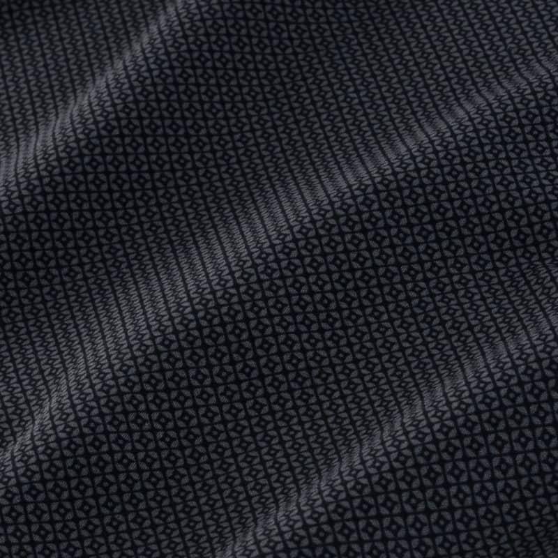 Leeward Dress Shirt - Gray Diamond GeoPrint, fabric swatch closeup