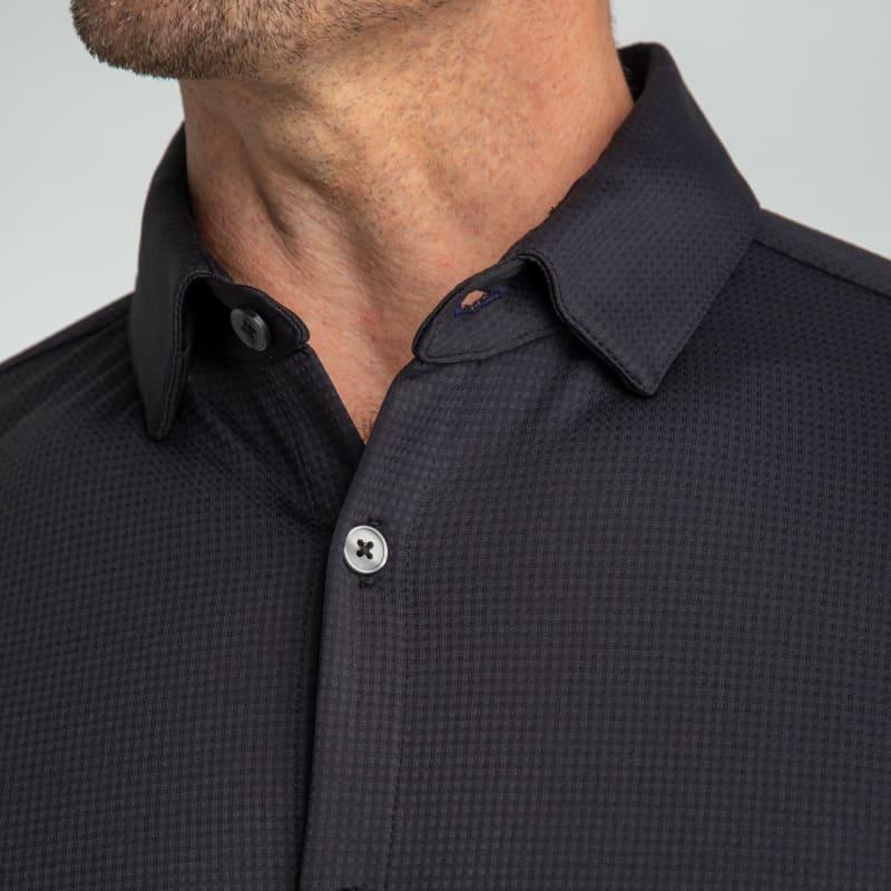 Spinnaker Dress Shirt - Black Solid, lifestyle/model