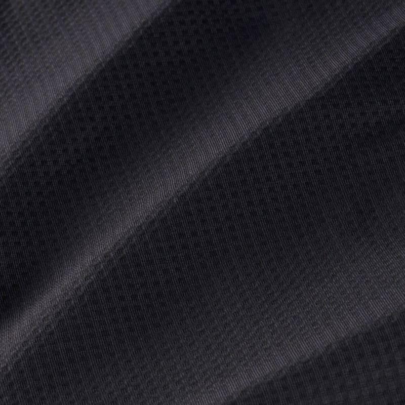 Spinnaker Dress Shirt - Black Solid, fabric swatch closeup
