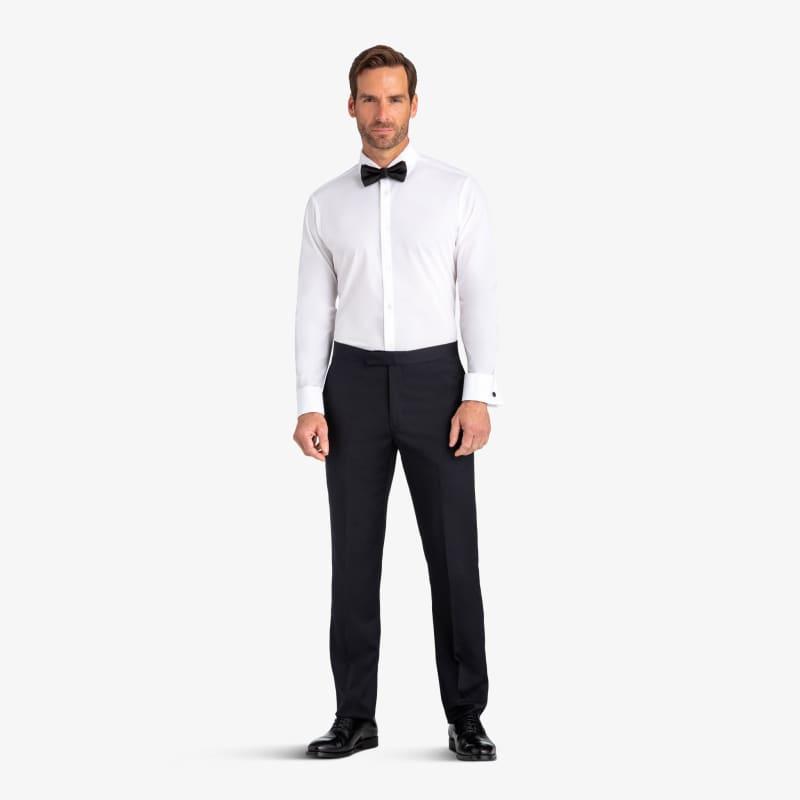 Leeward Tux Dress Shirt - White Solid, lifestyle/model