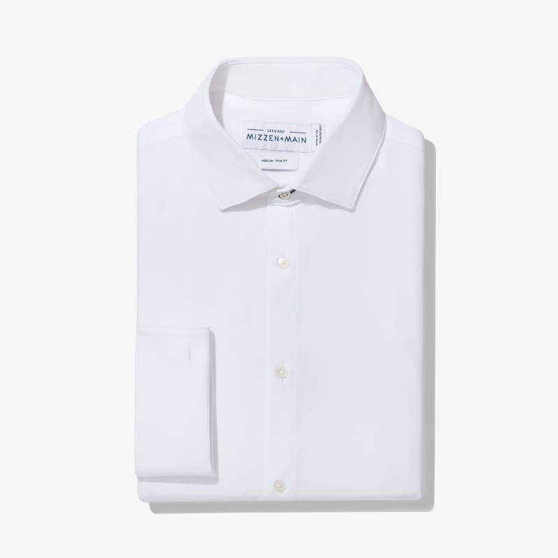 Leeward Tux Dress Shirt - White Solid, featured product shot