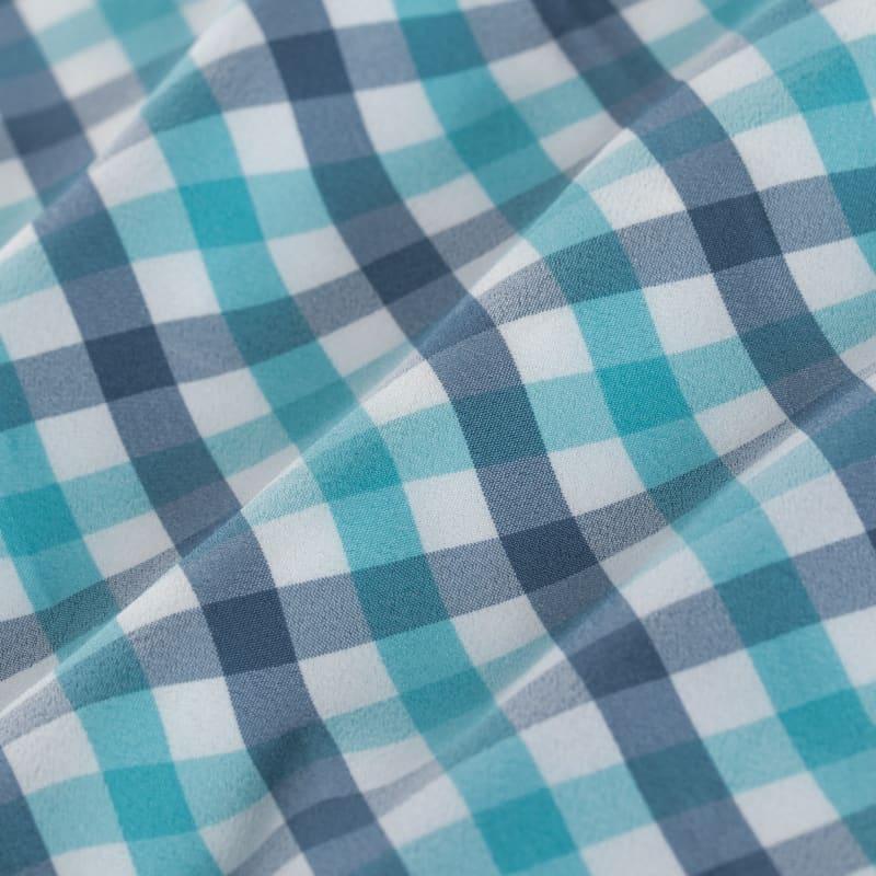 Leeward Short Sleeve - Green Stripe, fabric swatch closeup