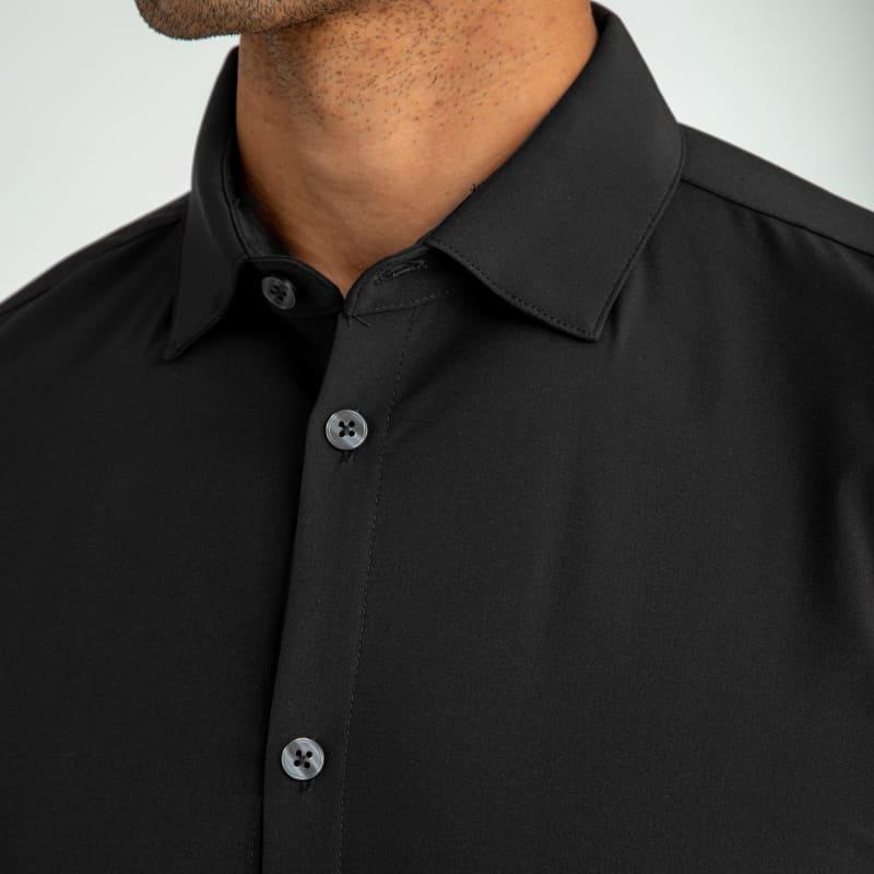 Leeward Dress Shirt - Black Solid, lifestyle/model