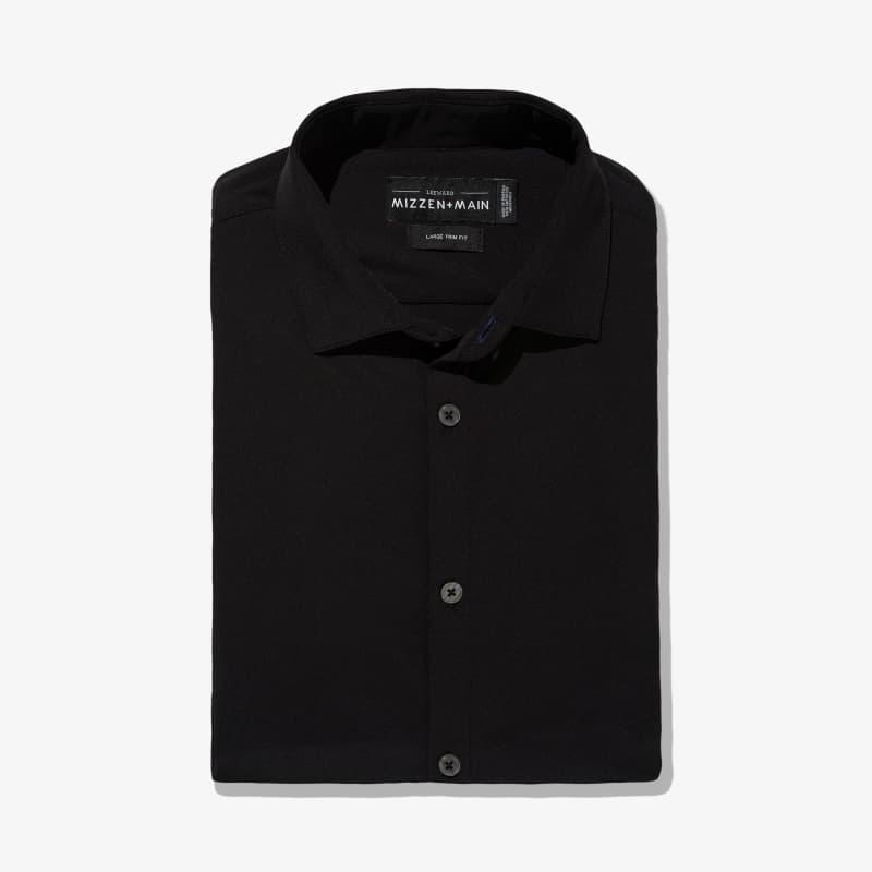 Leeward Dress Shirt - Black Solid, featured product shot