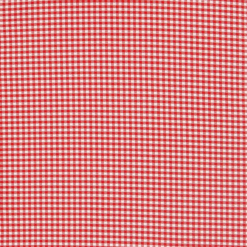 Spinnaker Dress Shirt - Red Gingham, fabric swatch closeup
