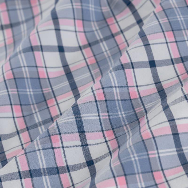 Leeward Short Sleeve - Blue Multi Plaid, fabric swatch closeup