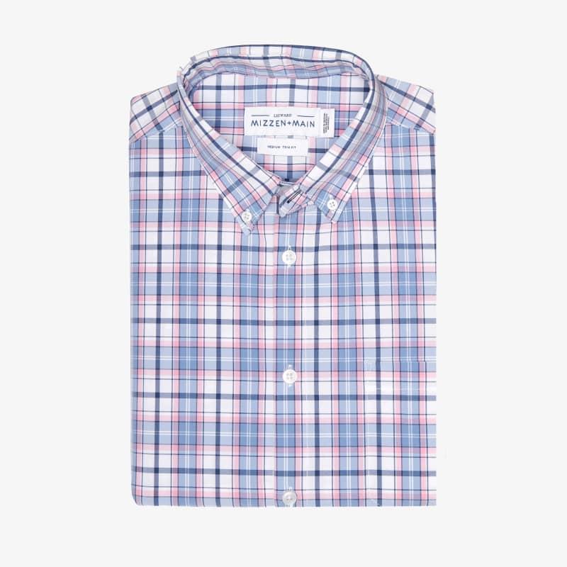 Leeward Short Sleeve - Blue Multi Plaid, featured product shot