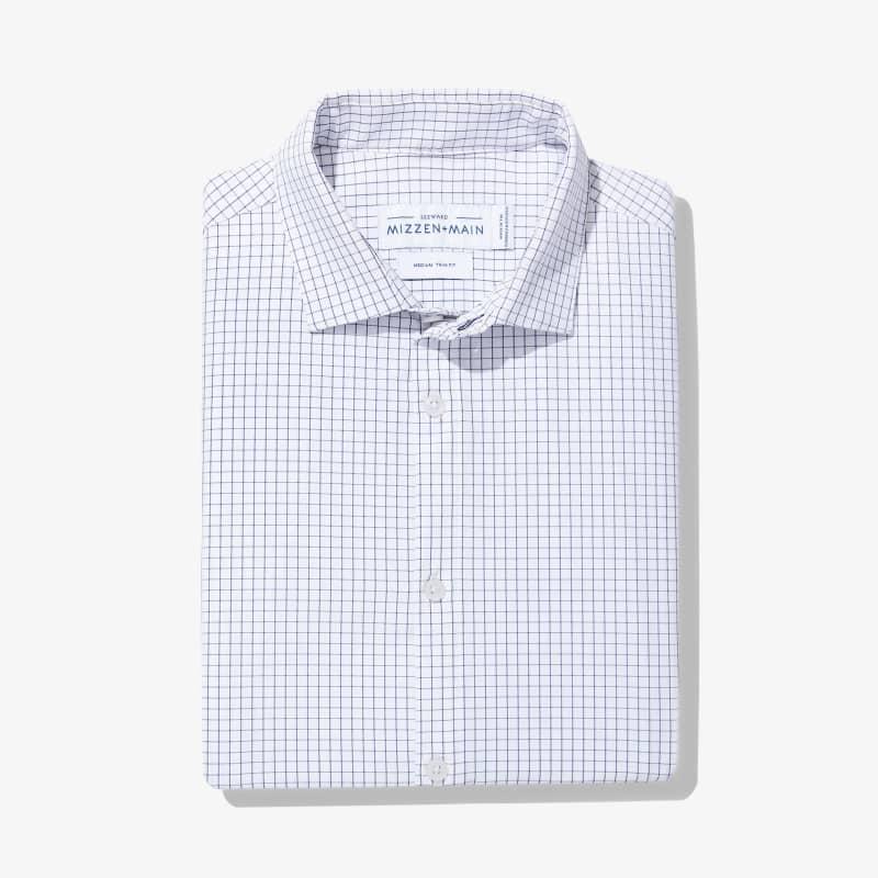Leeward Dress Shirt - Navy Grid, featured product shot