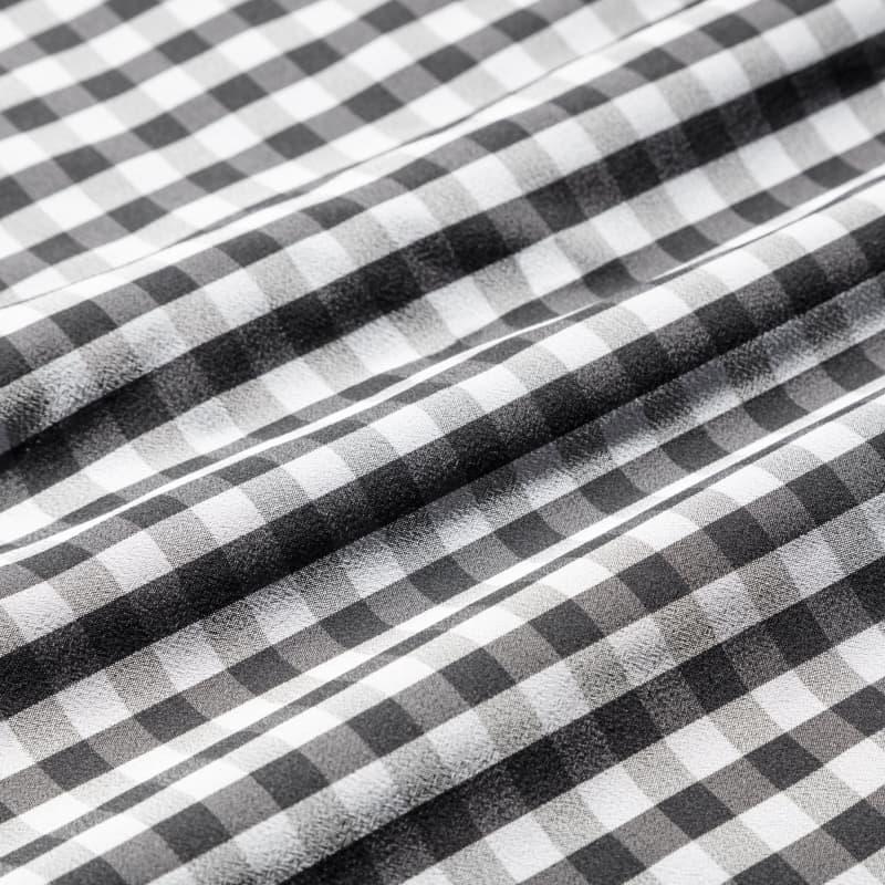 Leeward Dress Shirt - Black Gray Gingham, fabric swatch closeup