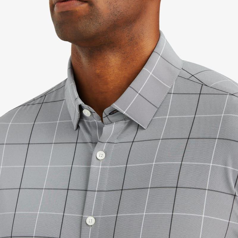 Leeward Dress Shirt - Gray Black LargeCheck, lifestyle/model