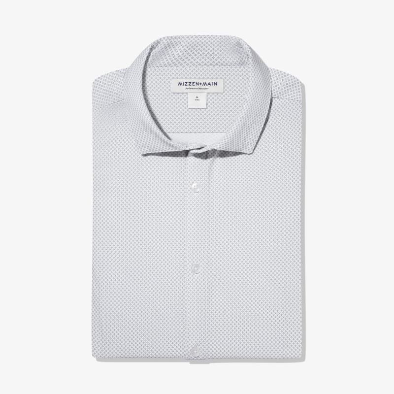 Leeward Dress Shirt - White Geo DotPrint, featured product shot