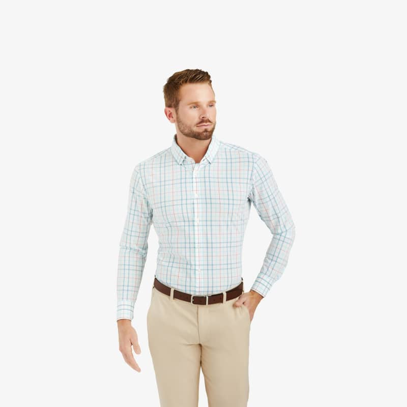 Leeward Dress Shirt - Niagara Multi Check, lifestyle/model