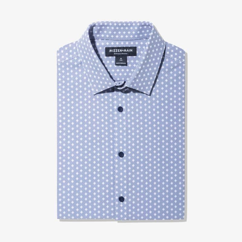 Leeward Dress Shirt - Navy Geo DotPrint, featured product shot