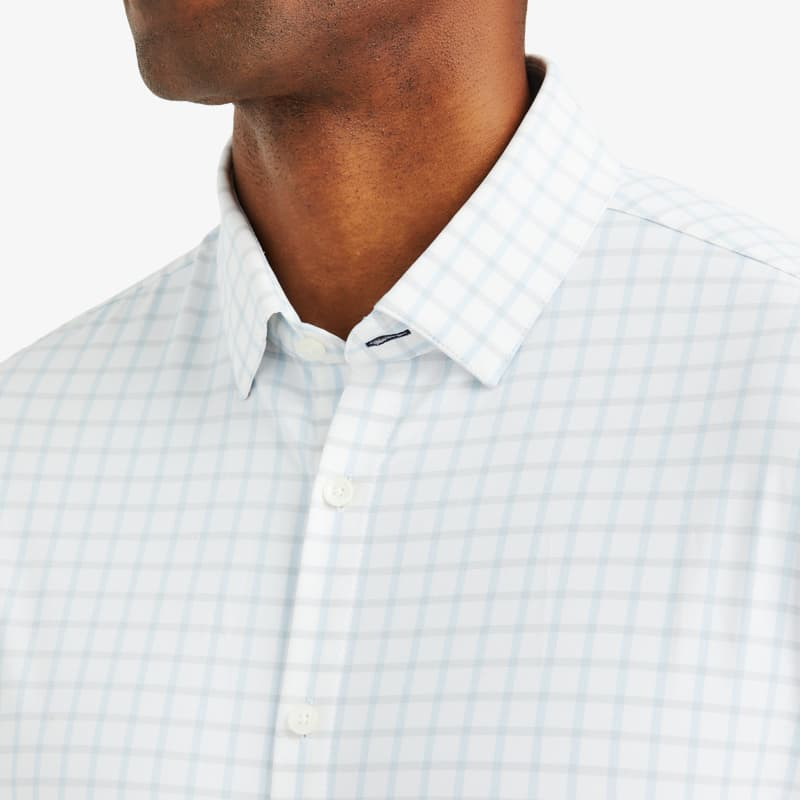 Leeward Dress Shirt - Light Blue GrayCheck, lifestyle/model