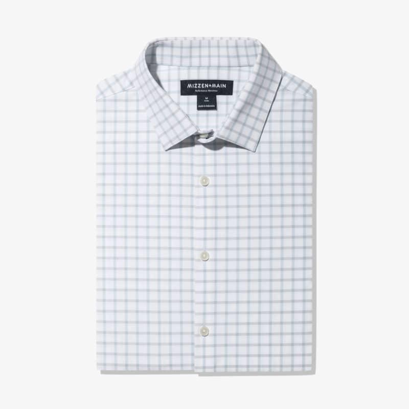 Leeward Dress Shirt - Light Blue GrayCheck, featured product shot