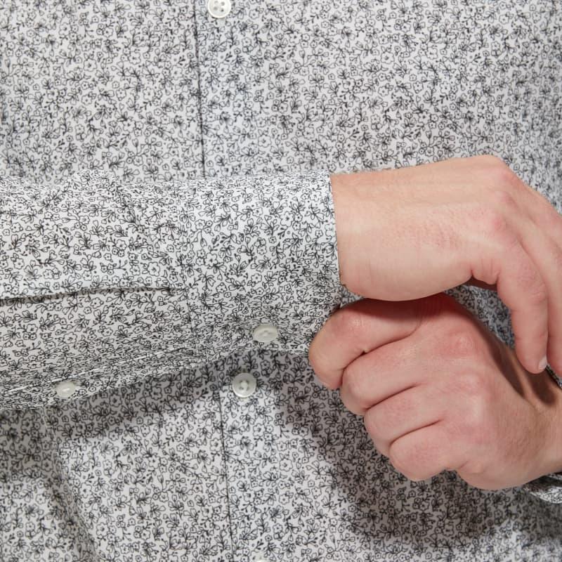 Leeward Dress Shirt - Black White FloralPrint, featured product shot