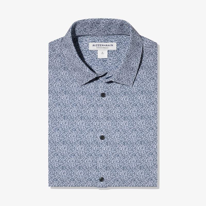 Leeward Dress Shirt - Navy Floral Print, featured product shot