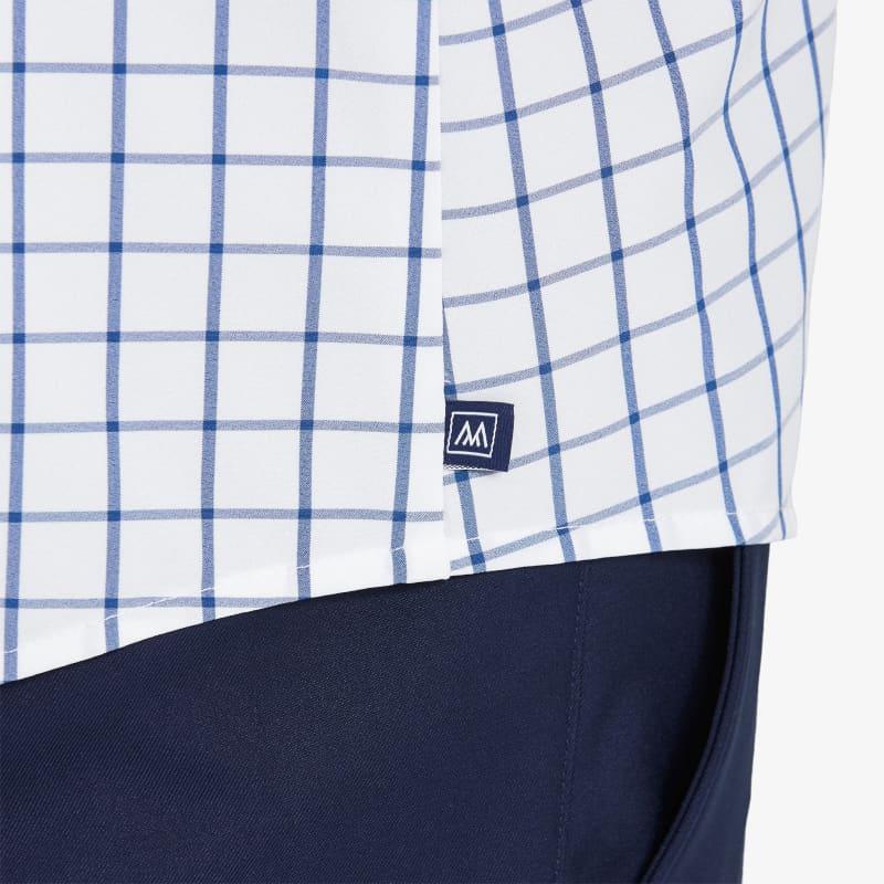 Leeward Casual Dress Shirt - Dark Blue Windowpane, lifestyle/model
