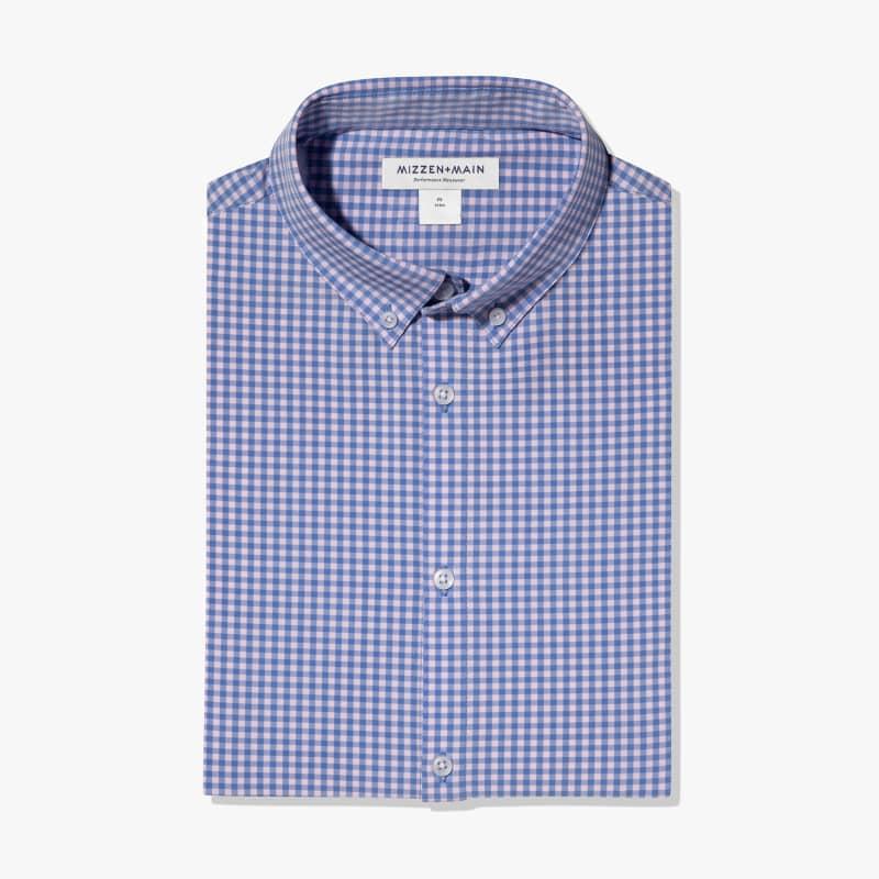 Leeward Dress Shirt - Pink Blue MiniCheck, featured product shot