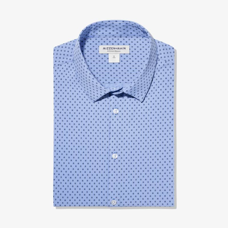 Leeward Dress Shirt - Floral Stripe Print, featured product shot