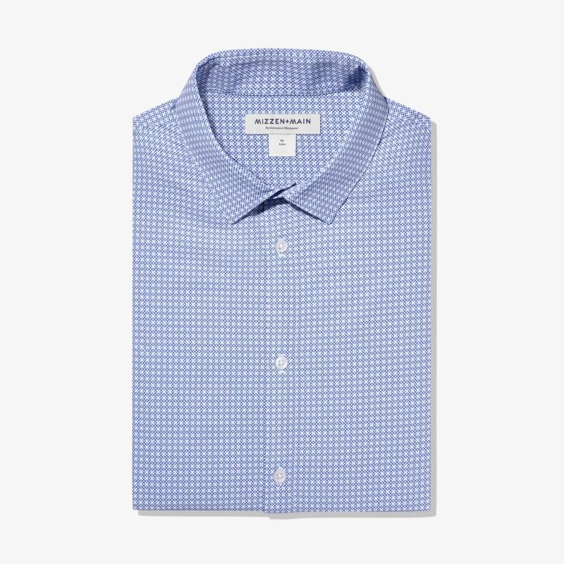Leeward Dress Shirt - Navy Diamond GeoPrint, featured product shot