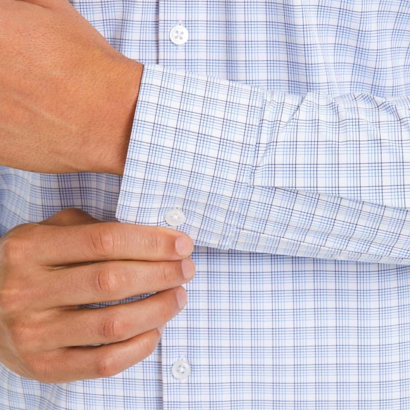 Leeward Dress Shirt - Blue Multi Check, lifestyle/model
