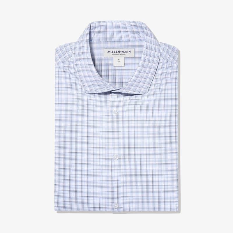Leeward Dress Shirt - Blue Multi Check, featured product shot