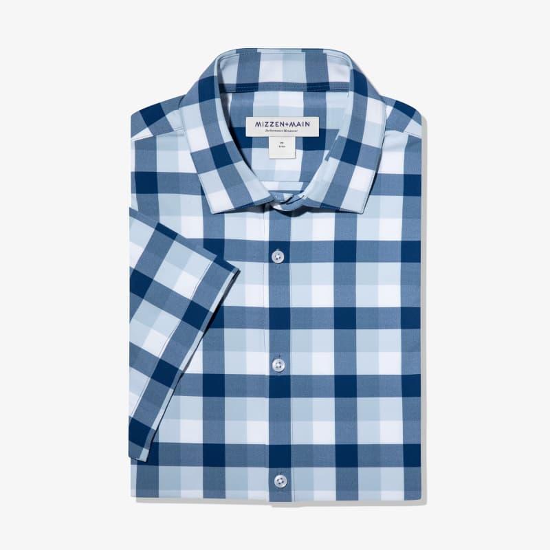 Lightweight Leeward Short Sleeve - Blue Large MultiCheck, featured product shot