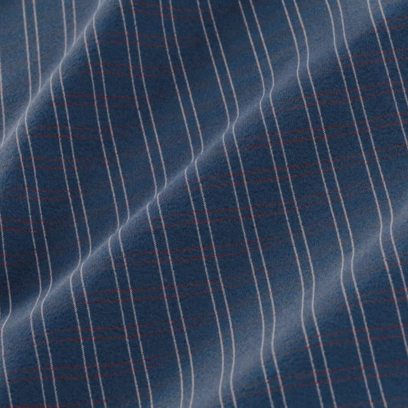 Leeward Dress Shirt - Navy Red MediumCheck, fabric swatch closeup