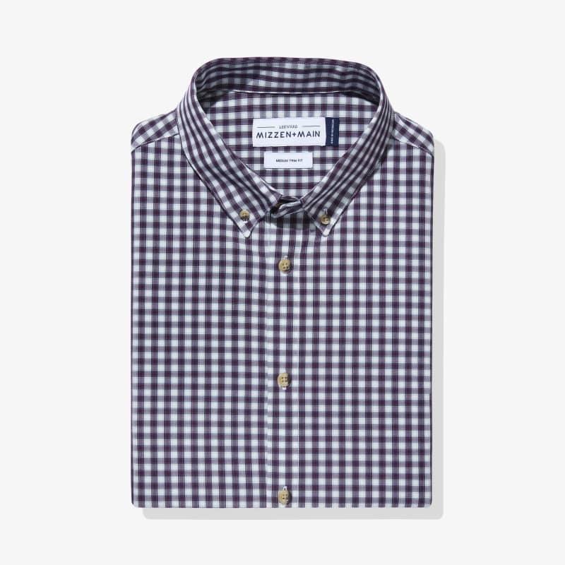 Leeward Dress Shirt - Purple Green Check, featured product shot