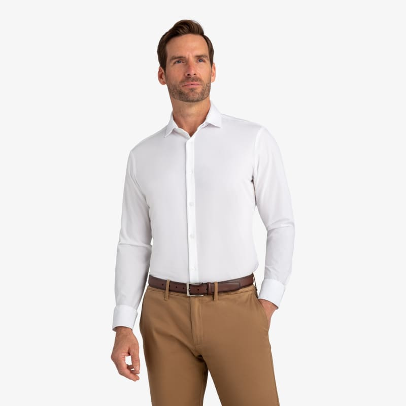 Leeward Dress Shirt - White Solid, lifestyle/model