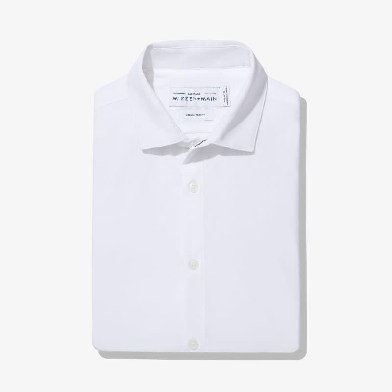 Leeward Dress Shirt - White Solid, featured product shot