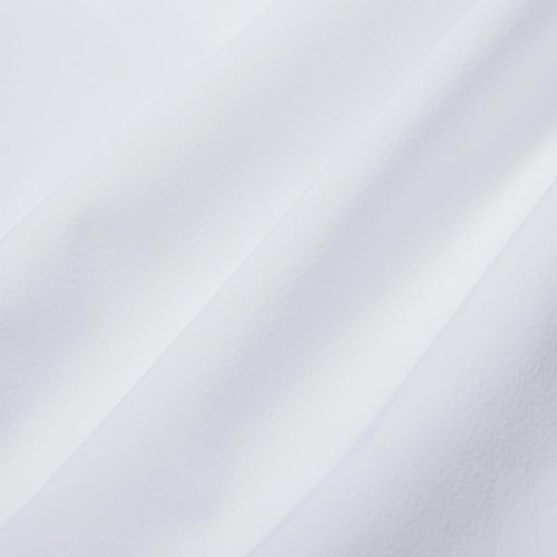 Leeward No Tuck Dress Shirt - White Solid, fabric swatch closeup