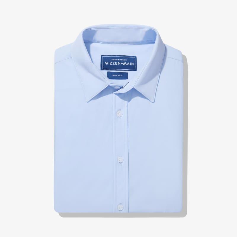 Leeward Formal Dress Shirt - Light Blue Solid, featured product shot