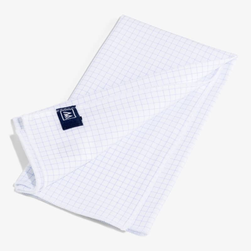 Pocket Square - Light Blue Grid, lifestyle/model