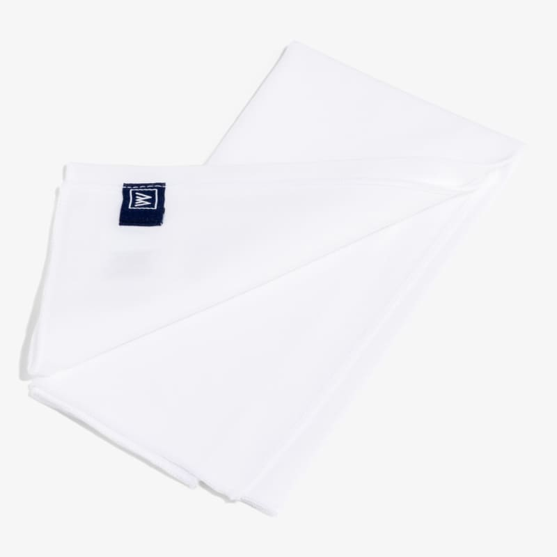 Pocket Square - White Solid, featured product shot