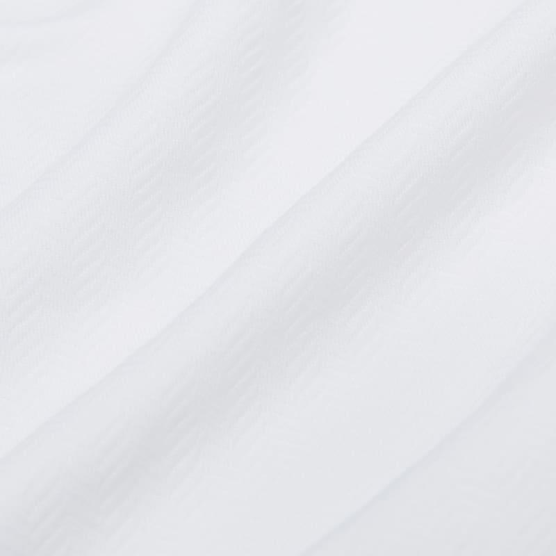 Spinnaker Dress Shirt - White Herringbone, fabric swatch closeup