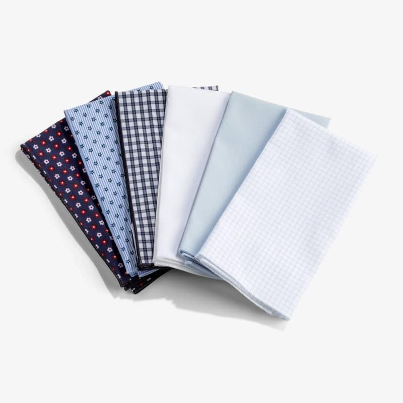Pocket Square - White Solid, lifestyle/model