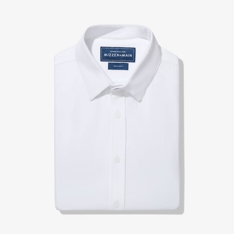 Leeward Formal Dress Shirt - White Solid, featured product shot
